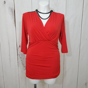 Torrid Lace Top Red Black 1XL 1 Blouse Sexy Dressy